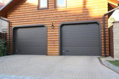 Подъемно-секционные ворота гаража СНТ Пищевик