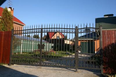 Кованые распашные ворота и калитка