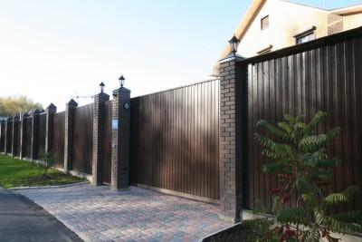 Откатные ворота и калитка Загорье