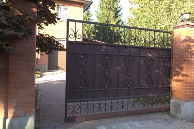 Откатные кованые ворота д. Ольгино 3500х2000мм , 150000руб