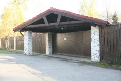Откатные ворота и калитка из дерева СНТ Композиторы